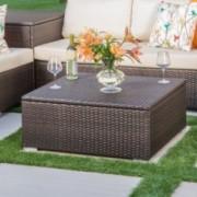 San-Louis-Obispo Outdoor Wicker Storage Coffee Table