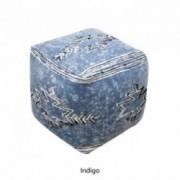 Bamai Artisan Indigo Fabric Cube Pouf
