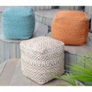 Bangla Artisan Fabric Cube Pouf