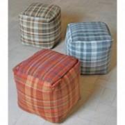 Palaj Artisan Fabric Cube Pouf