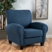Chadney Chocolate Brown Leather Club Chair