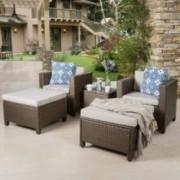 Budva Outdoor 5Pc Chat Set W Cushions