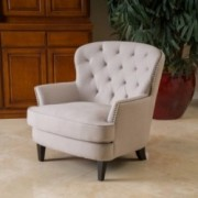 Aveton Royal Vintage Design Biege Upholstery Arm Chair