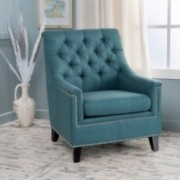Ailsa Contemporary Fabric Tufted Club Chair