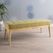 Anglo Modern Mid Century Fabric Bench