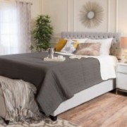 Cumulus Fully Upholstered Fabric Queen Bed Set