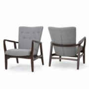 Suffolk French Style Fabric Arm Chair Set Of 2