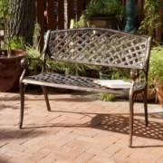 Eastwood Antique Copper Cast Aluminum Bench
