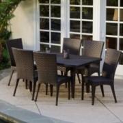 Brooklyn 7-pieces Outdoor Wicker Dining Set