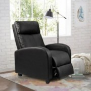 Homall Single Recliner Chair Padded Seat PU Leather Living Room Sofa Recliner Modern Recliner Seat Club Chair Home Theater Se