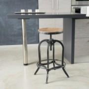 Dempsey Industrial Design Adjustable Height Swivel Seat Stool