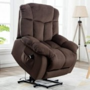CANMOV Power Lift Recliner Chair - Heavy Duty and Safety Motion Reclining Mechanism-Antiskid Fabric Sofa Living Room Chair wi