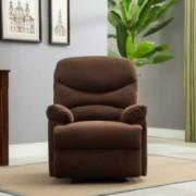 Belleze Microfiber Recliner Sofa Chair Home Office Reclining Positions Ergonomic Armrests/Footrests, Brown