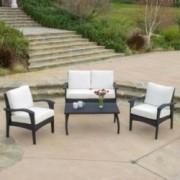 Voyage Outdoor 4pc Black Sofa Set
