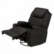 Homegear Recliner Chair with 8 Point Electric Massage and Heat  Black