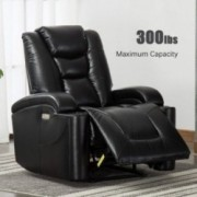 ANJ Electric Power Recliner Chair for Living Room, Breathable Bonded Leather, Classic and Traditional Single Sofa Seat, Home