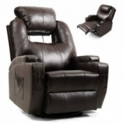 Artist Hand Massage Recliner Chair w/Cup Holder Electric Heated Living Room Chair Bedroom Chair Reading Chair Headrest Adjust