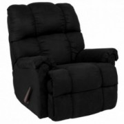 Flash Furniture Riverstone Sierra Black Microfiber Rocker Recliner