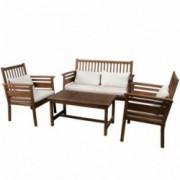 Pensacola 4pc Outdoor Acacia Wood Sofa Set
