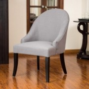 Leven Grey Fabric Accent Chair
