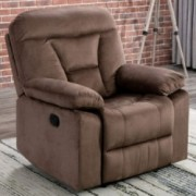 CANMOV Oversize Design Recliner Chair, Manual Reclining Sofa, Contemporary Living Room Chair, Chocolate