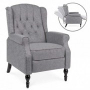 Best Choice Products Tufted Upholstered Wingback Push Back Recliner Armchair for Living Room, Bedroom, Home Theater Seating w
