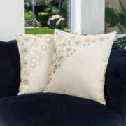 "18"" Embroidered Paillette Beading Throw Pillows (Set of 2)"