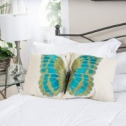 "18"" Embroidered Wings Throw Pillows (Set of 2)"