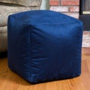 Jamie Blue Microfiber Square Kids Bean Bag