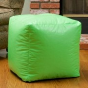 Jamie Green Vinyl Square Kids Bean Bag