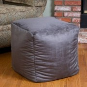 Jamie Grey Microfiber Square Kids Bean Bag