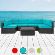 Walsunny 7pcs Patio Outdoor Furniture Sets,Low Back All-Weather Rattan Sectional Sofa with Tea Table&Washable Couch Cushions