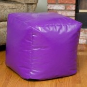 Jamie Purple Vinyl Square Kids Bean Bag