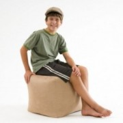 Jamie Tan Microfiber Square Kids Bean Bag