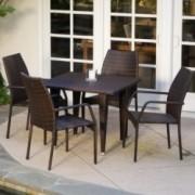 Michael 5 Piece Outdoor Wicker Dining Set