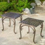Hyde Outdoor Cast Aluminium Side Table (Set of 2)