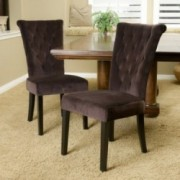 Paulina Brown Velvet Dining Chairs (Set of 2)