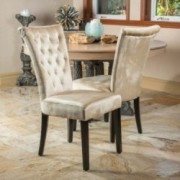 Paulina Champagne Velvet Dining Chairs (Set of 2)