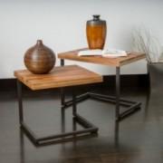 Blaine Wood Finish Nesting Tables (Set of 2)