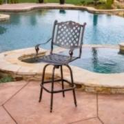 Pomelo Outdoor Cast Aluminum Barstool