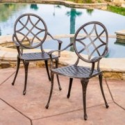 Norcross Outdoor Cast Aluminum Dining Chair (Set of 2)