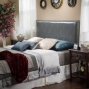 Westin Full to Queen Size Grey Leather Headboard