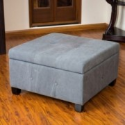 Codi Grey Fabric Storage Ottoman Coffee Table