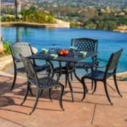 Marietta 5pc Outdoor Cast Aluminum Dining Set