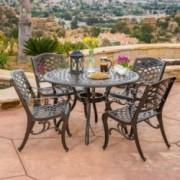 Covington Outdoor 5pcs Cast Aluminum Dining Set