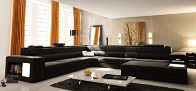 Modern Italian Design Leather Sectional Sofa Polaris