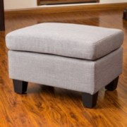 Christabel Grey Fabric Ottoman Footstool