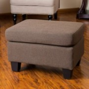 Christabel Brown Fabric Ottoman Footstool