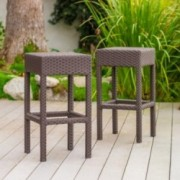Rudolfo Outdoor Backless Bar Stools (Set of 2)