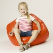 Taylor Orange Vinyl Kids Bean Bag